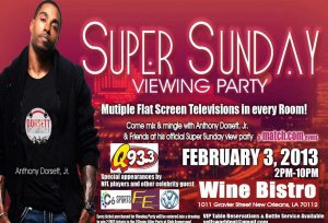 Super Bowl Watch Party with Anthony Dorsett